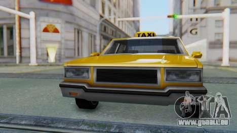 Taxi Version of LV Police Cruiser pour GTA San Andreas vue de droite