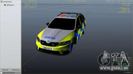 2014 Police Skoda Octavia VRS Estate pour GTA 5