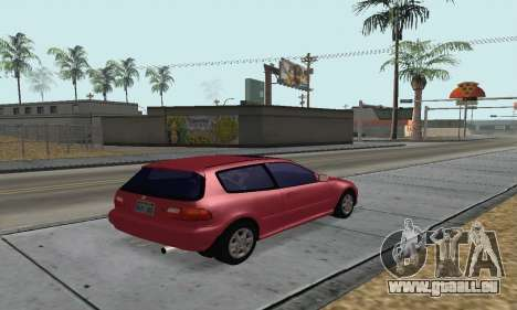 Honda Civic EG6 Tunable pour GTA San Andreas laissé vue
