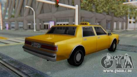 Taxi Version of LV Police Cruiser für GTA San Andreas linke Ansicht