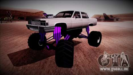 GTA 4 Emperor Monster Truck für GTA San Andreas zurück linke Ansicht