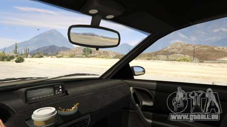 GTA 5 GTA 4 Schafter arrière droit vue de côté