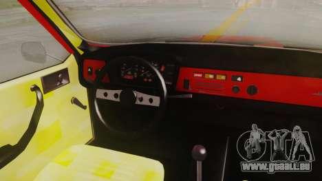 Renault 12 Toros v2 für GTA San Andreas Rückansicht