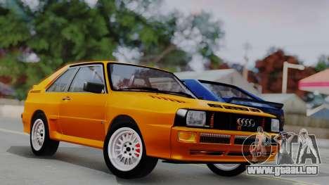 Audi Quattro Coupe 1983 pour GTA San Andreas salon