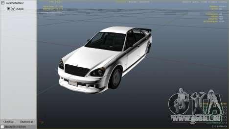 GTA 5 GTA 4 Schafter droite vue latérale