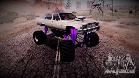 GTA 4 Emperor Monster Truck für GTA San Andreas Innenansicht
