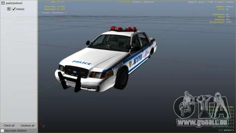 GTA 5 NYPD Ford CVPI HD droite vue latérale