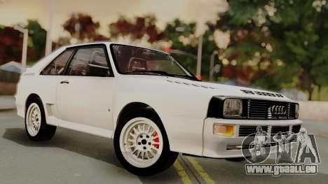 Audi Quattro Coupe 1983 für GTA San Andreas obere Ansicht