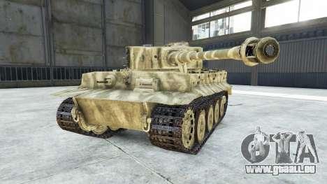 GTA 5 Panzerkampfwagen VI Ausf. E Tiger droite vue latérale