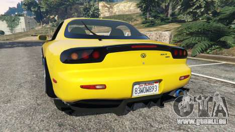 GTA 5 Mazda RX-7 FD3S Stanced [without camber] v1.1 hinten links Seitenansicht