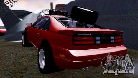 Nissan 300ZX Rusty Rebel pour GTA San Andreas sur la vue arrière gauche