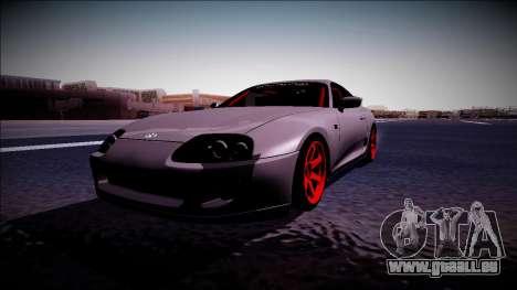 Toyota Supra Drift Monster Energy für GTA San Andreas rechten Ansicht