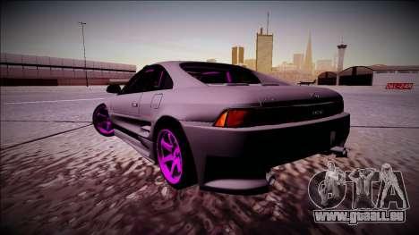 Toyota MR2 Drift Monster Energy pour GTA San Andreas sur la vue arrière gauche