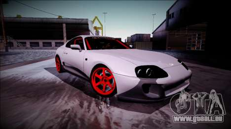 Toyota Supra Drift Monster Energy pour GTA San Andreas vue arrière