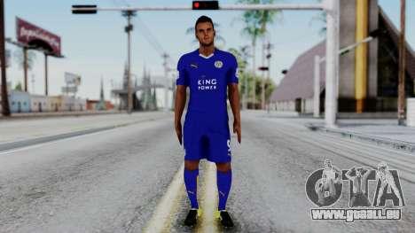 Jamie Vardy - Leicester City 2015-16 pour GTA San Andreas deuxième écran