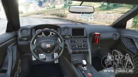 GTA 5 Nissan GT-R (R35) [LibertyWalk] v1.1 arrière droit vue de côté