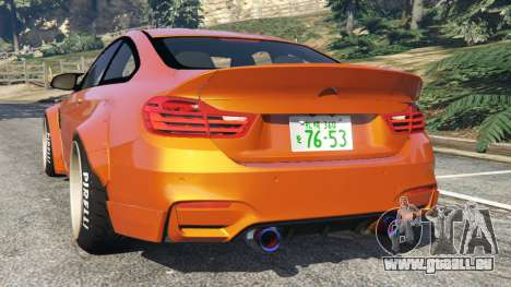 GTA 5 BMW M4 (F82) [LibertyWalk] v1.1 arrière vue latérale gauche