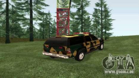 Chevrolet Suburban Camouflage pour GTA San Andreas laissé vue