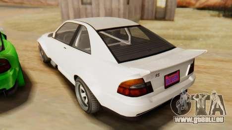 GTA 5 Karin Sultan RS IVF pour GTA San Andreas sur la vue arrière gauche