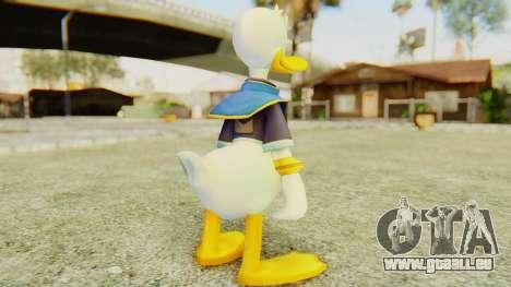Kingdom Hearts 2 Donald Duck Default v2 pour GTA San Andreas troisième écran