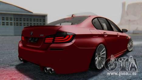 BMW M5 2012 Stance Edition für GTA San Andreas linke Ansicht