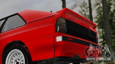 Audi Quattro Coupe 1983 pour GTA San Andreas vue de côté