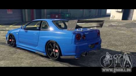 GTA 5 Nissan Skyline R34 Tommy Kaira linke Seitenansicht