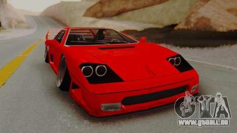 Turismo Saber X für GTA San Andreas zurück linke Ansicht