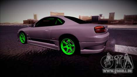 Nissan Silvia S15 Drift Monster Energy für GTA San Andreas zurück linke Ansicht
