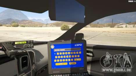 GTA 5 2012 Unmarked Dodge Charger hinten rechts