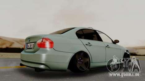BMW M3 E90 pour GTA San Andreas sur la vue arrière gauche