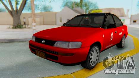 Toyota Corolla Dollar Taxi für GTA San Andreas