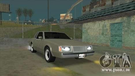 Willard Majestic pour GTA San Andreas vue arrière