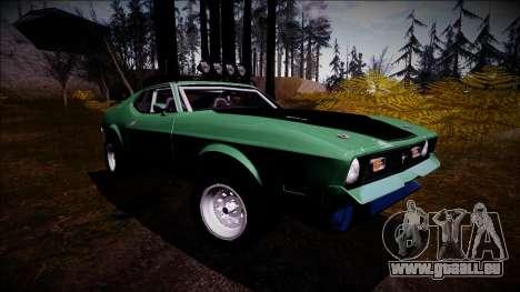 1971 Ford Mustang Rusty Rebel pour GTA San Andreas vue de droite