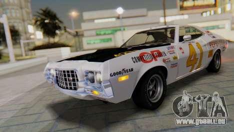 Ford Gran Torino Sport SportsRoof (63R) 1972 IVF pour GTA San Andreas vue intérieure