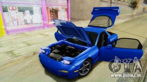 Mazda RX-7 1993 v1.1 für GTA San Andreas Unteransicht