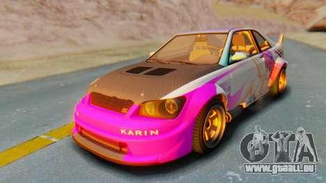 GTA 5 Karin Sultan RS Carbon pour GTA San Andreas vue intérieure