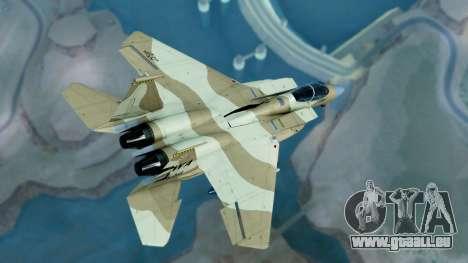 McDonnell Douglas F-15E Aggressor Desert pour GTA San Andreas laissé vue