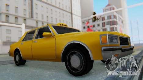 Taxi Version of LV Police Cruiser pour GTA San Andreas