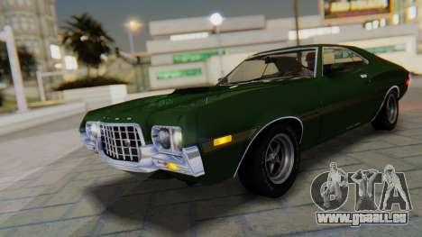 Ford Gran Torino Sport SportsRoof (63R) 1972 IVF pour GTA San Andreas vue de dessous