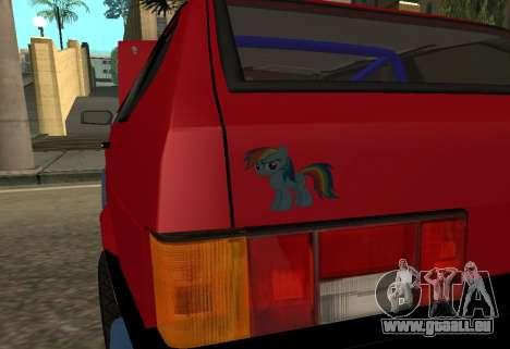 VAZ 2108 pour GTA San Andreas vue de côté