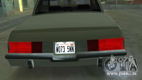 Willard Majestic pour GTA San Andreas vue de droite