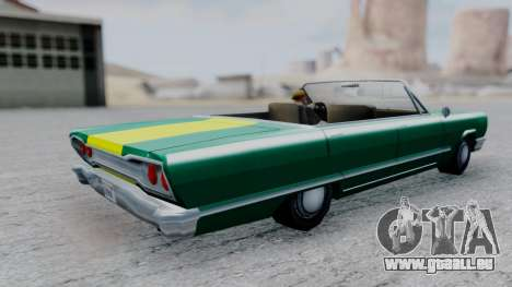 Savanna F&F4 Chevy PJ pour GTA San Andreas sur la vue arrière gauche