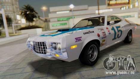 Ford Gran Torino Sport SportsRoof (63R) 1972 PJ1 für GTA San Andreas obere Ansicht