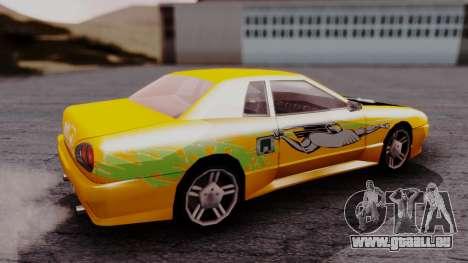 Elegy F&F Supra PJ pour GTA San Andreas sur la vue arrière gauche