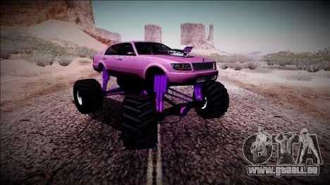 GTA 4 Washington Monster Truck für GTA San Andreas Rückansicht