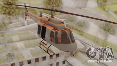GTA 5 Buckingham Maverick pour GTA San Andreas sur la vue arrière gauche