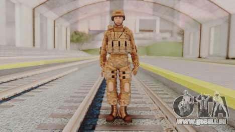 US Army Multicam Soldier from Alpha Protocol für GTA San Andreas zweiten Screenshot