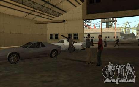 Le garage est situé à les quais pour GTA San Andreas