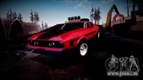1971 Ford Mustang Rusty Rebel pour GTA San Andreas vue de dessous